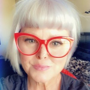 Betsey Johnson Cat Eye Clear Red Oversized Readers
